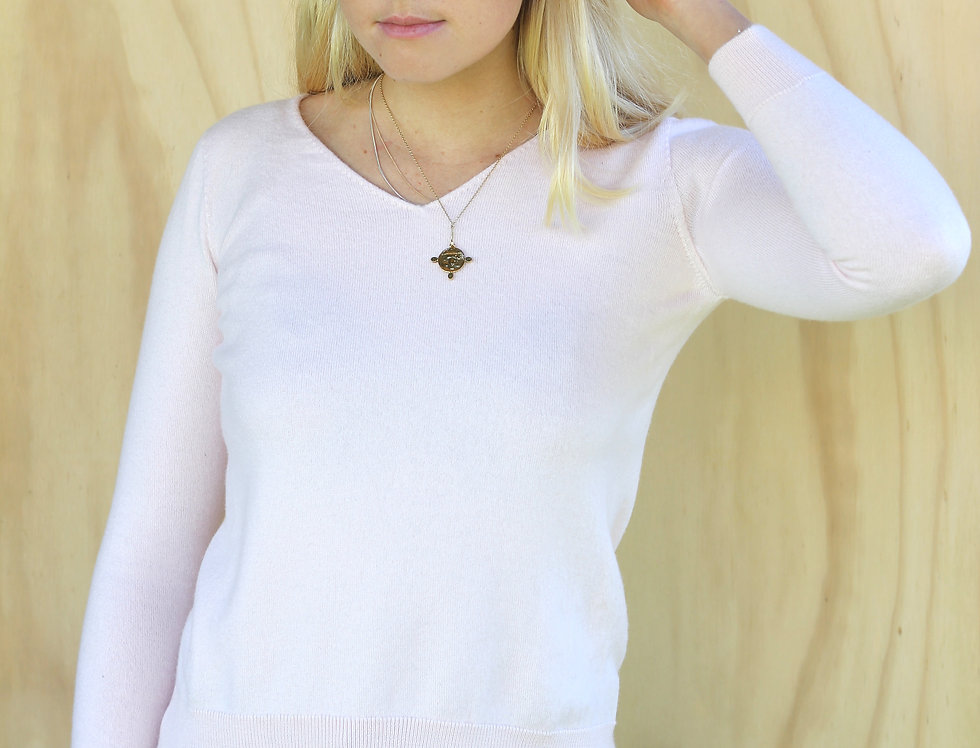 Soft Pink Standard Issue Merino Wool Top