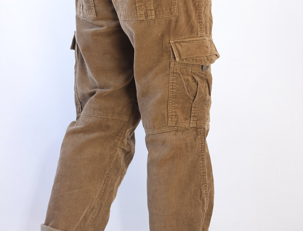 Brown Cord Cargo Pants