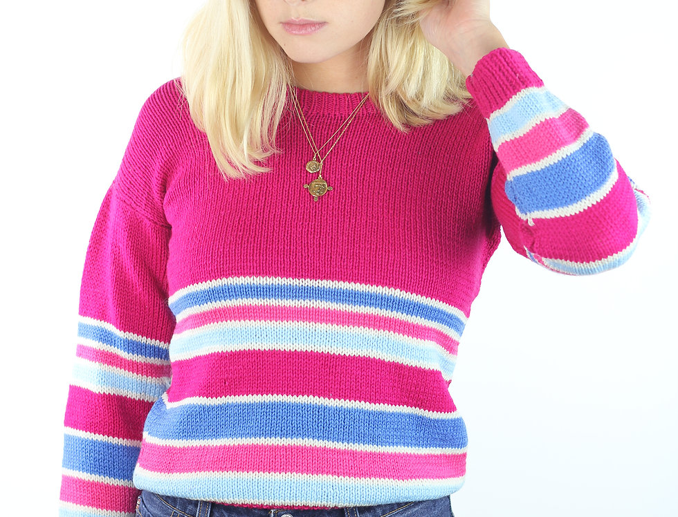 70's Hot Pink Knit