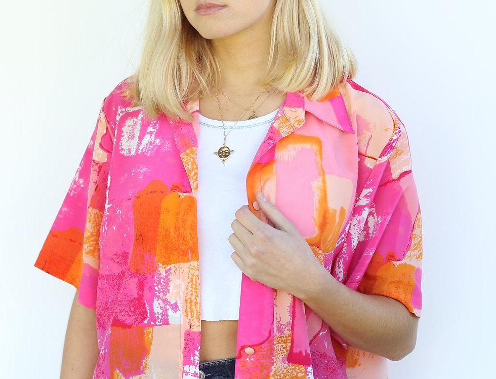 Hot Pink/ Orange Shirt