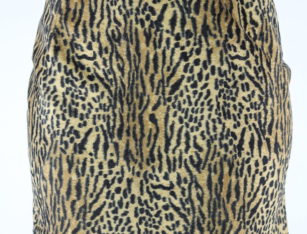 Vintage NZ Made Fuzzy Leopard Skirt