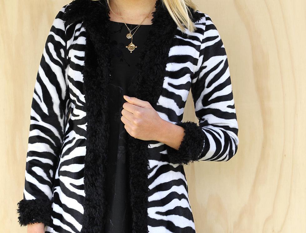 90's Zebra Print Coat