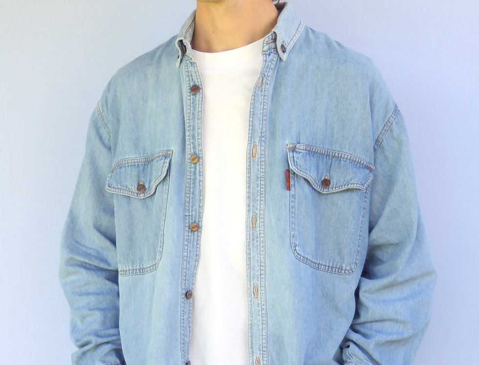 90's Structure Denim Shirt
