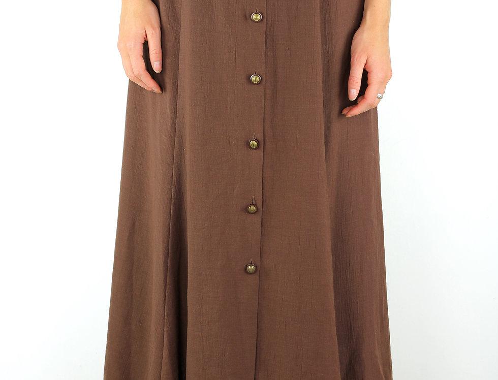 Chocolate Brown NZ Made Vintage Skirt