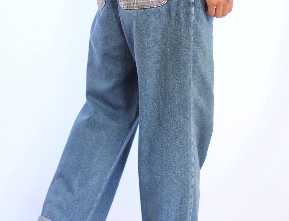 Tartan Patch Jeans