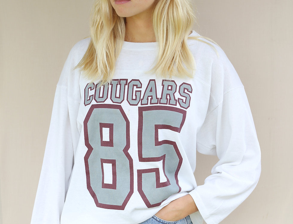 Cougars Vintage Long Sleeve