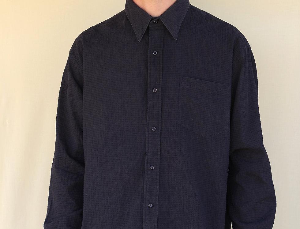 Black Waffle Shirt
