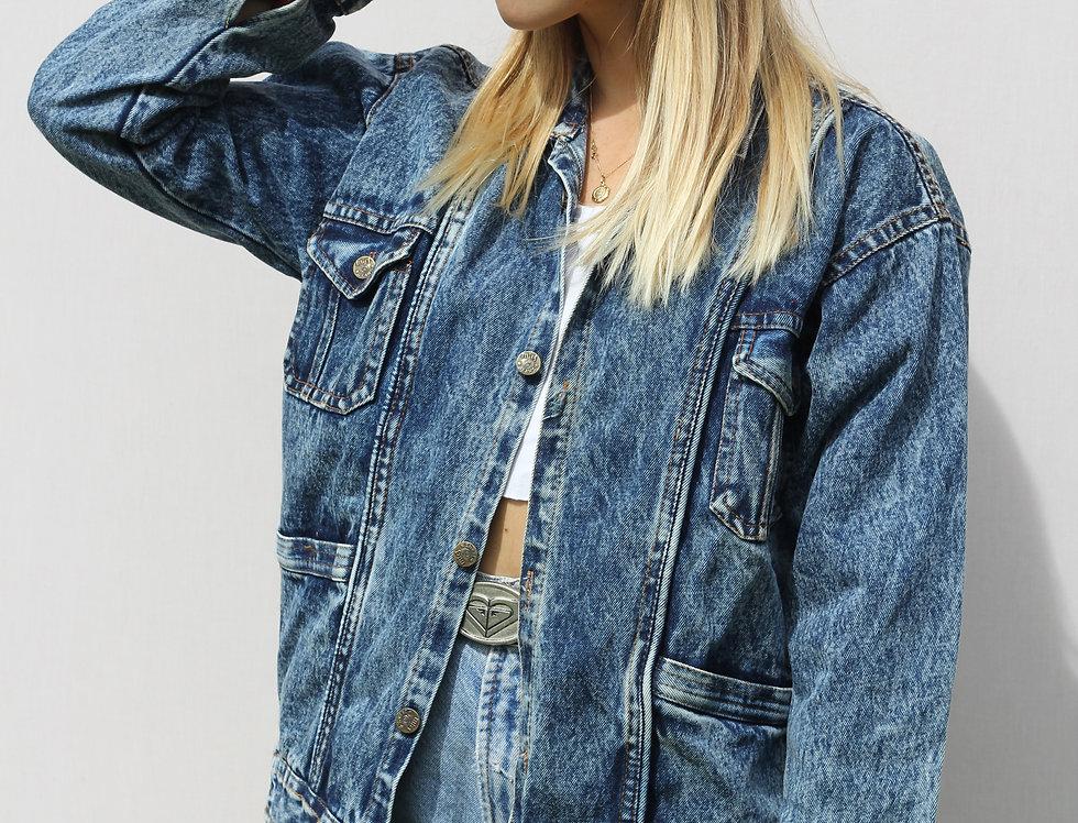 Acid Wash Mig Jeans Jacket