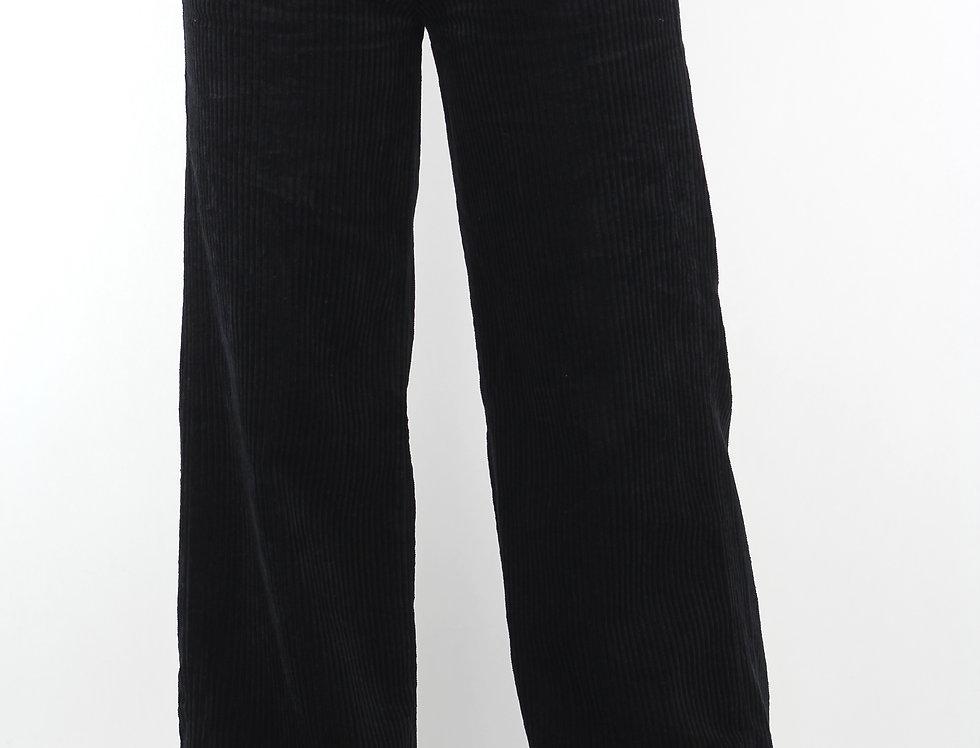 Black chunky corduroy pants
