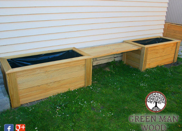 Taihape Double Planter Bench