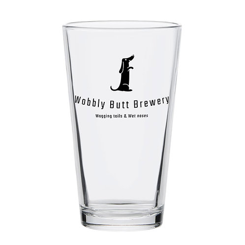 Wobbly Butt Brewery 16oz Pint Glass