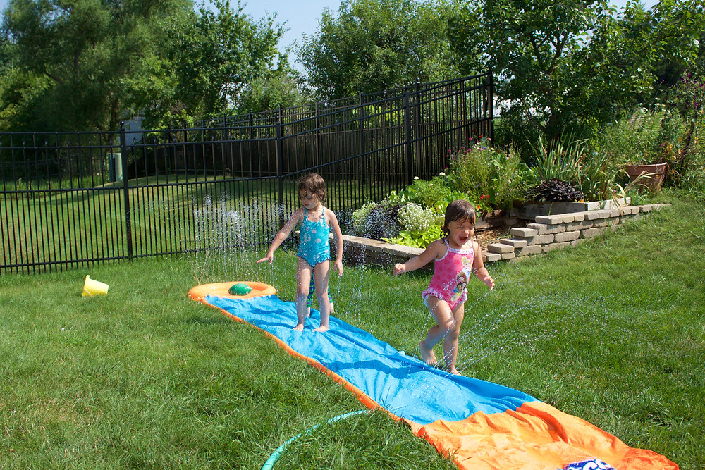 Blue Sky Daycare home daycare children enjoy water play