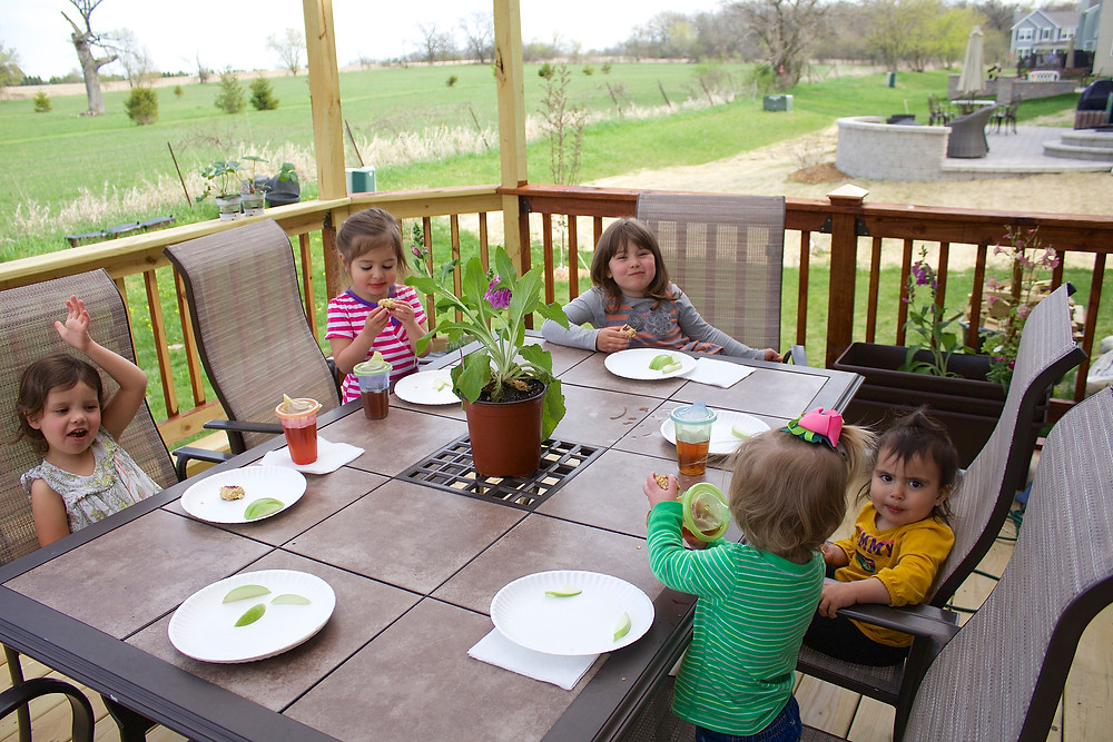 May Day tea party at Blue Sky Daycare home daycare
