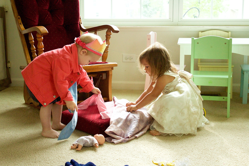 Blue Sky Daycare home daycare children play dress-up