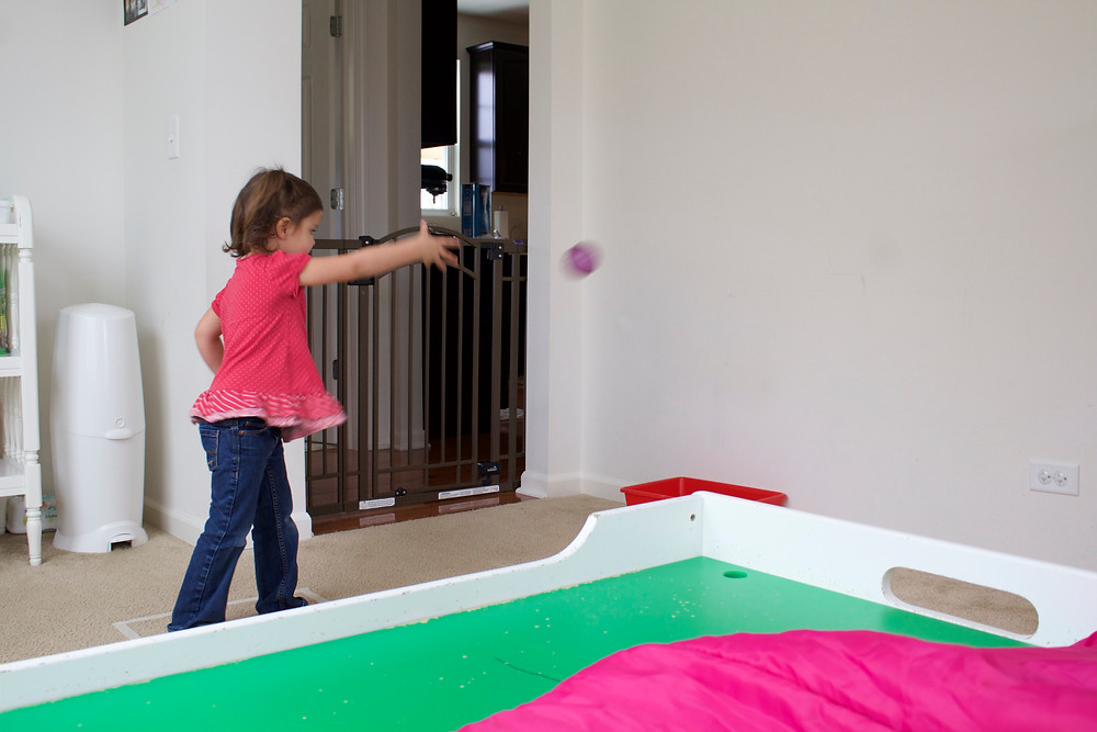 Blue Sky Daycare children have fun navigating an obstacle course