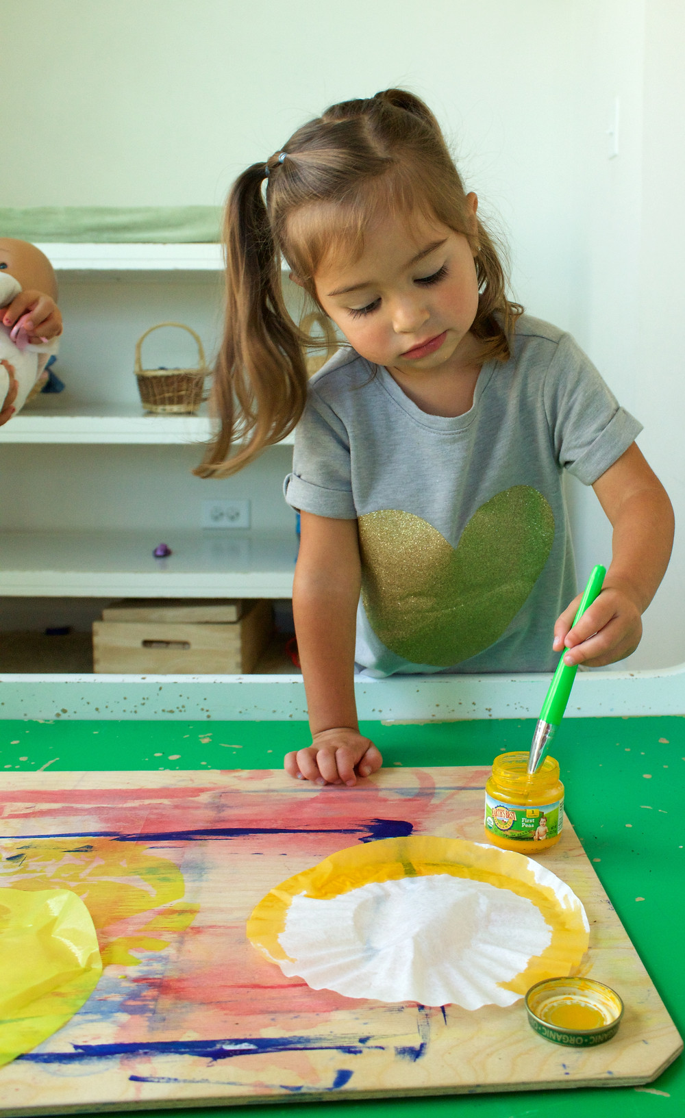 Blue Sky Daycare home daycare children painting