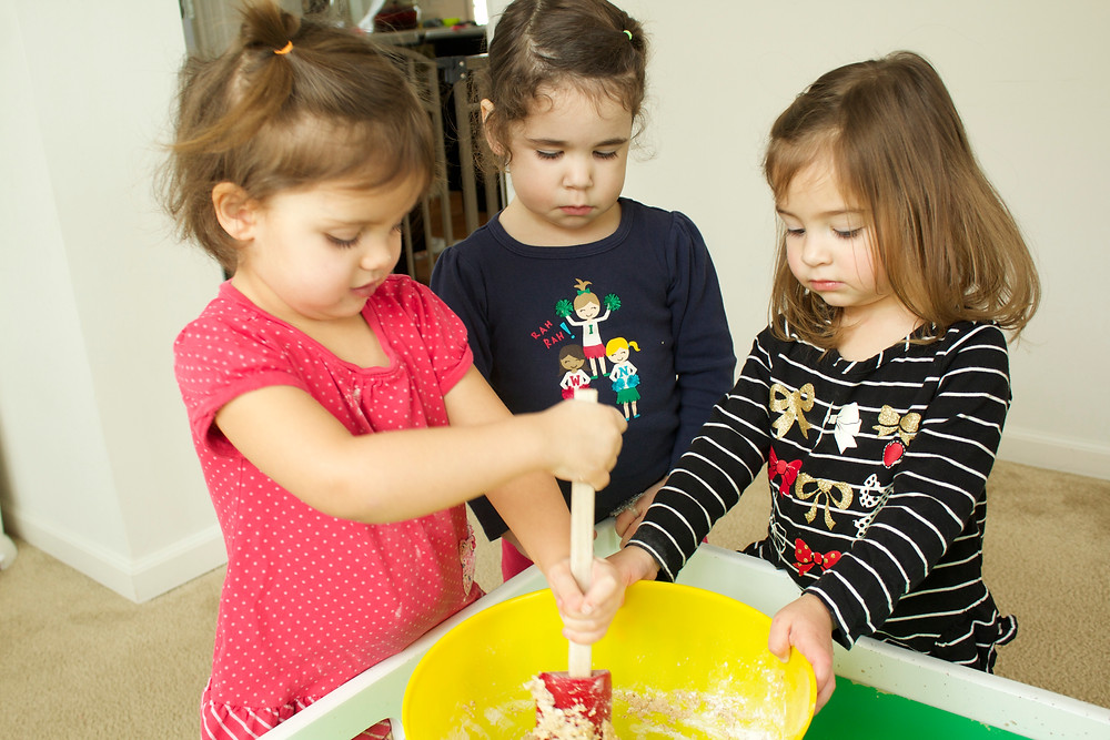 Blue Sky Daycare home daycare children making bread