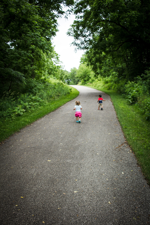 Blue Sky Daycare children enjoying a nature walk