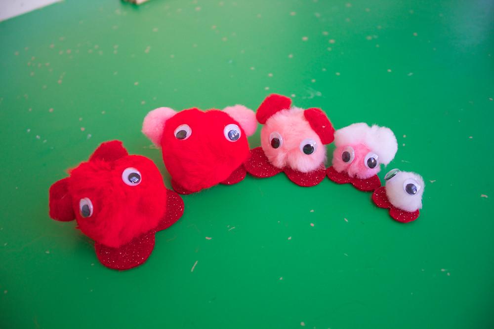 Blue Sky Daycare home daycare children's warm fuzzy sensory art project