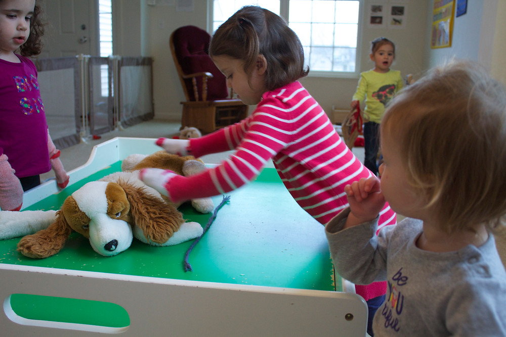 Blue Sky Daycare home daycare children play pretend veterinarian