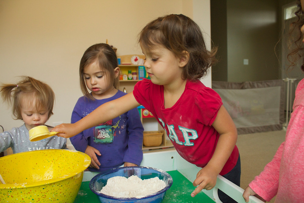Bread making at Blue Sky Daycare home daycare