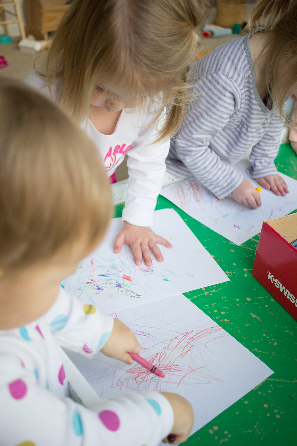 Blue Sky Daycare children color pictures for their parents