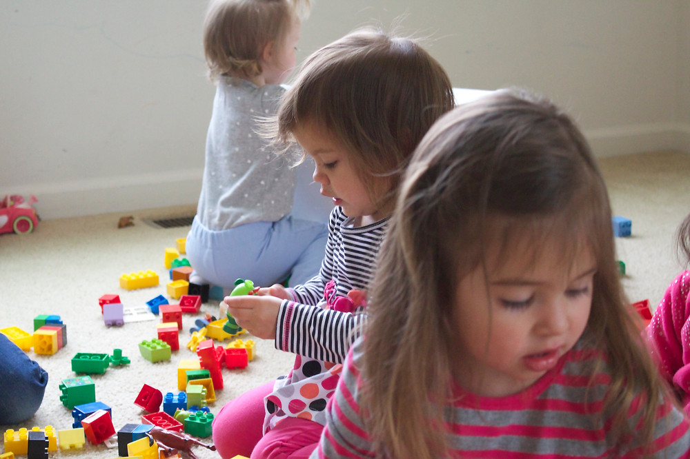 Block play at Blue Sky Daycare home daycare