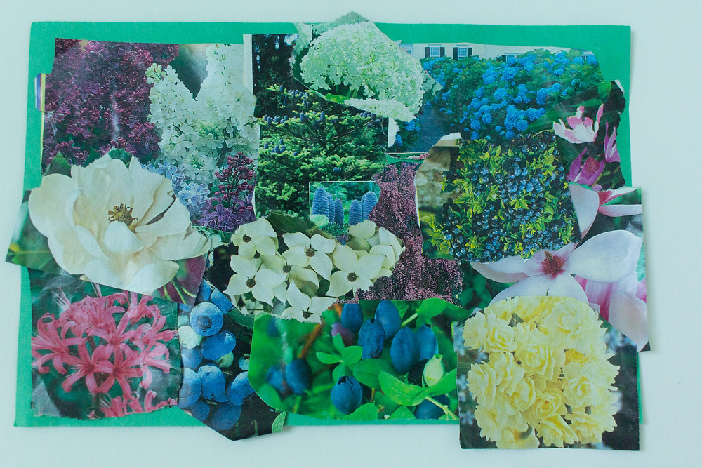 A lovely garden collage created by a Blue Sky Daycare child