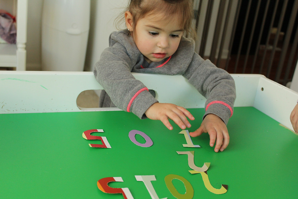 Number sorting at Blue Sky Daycare home daycare in Volo