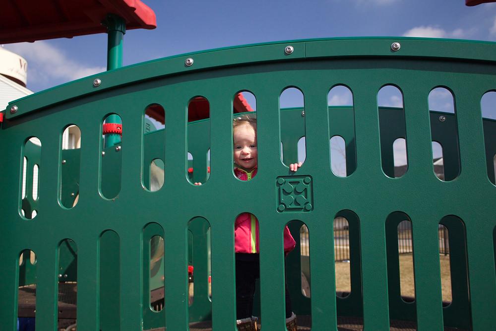 Blue Sky Daycare children enjoy playtime at the park