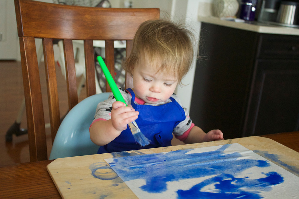Watercolor painting at Blue Sky Daycare home daycare
