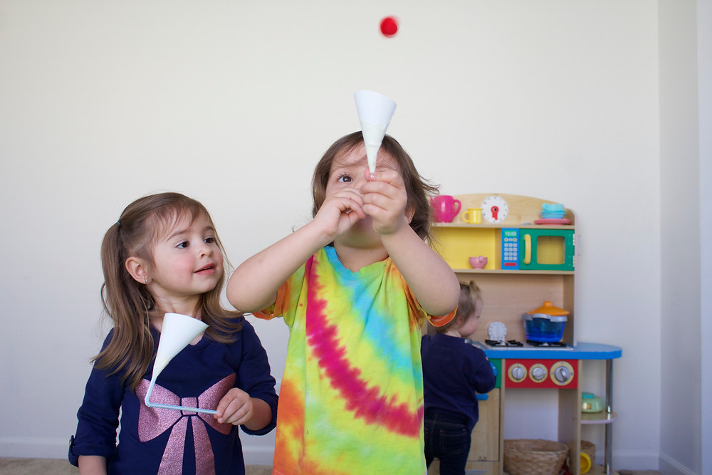 Blue Sky Daycare home daycare children using wind powered inventions