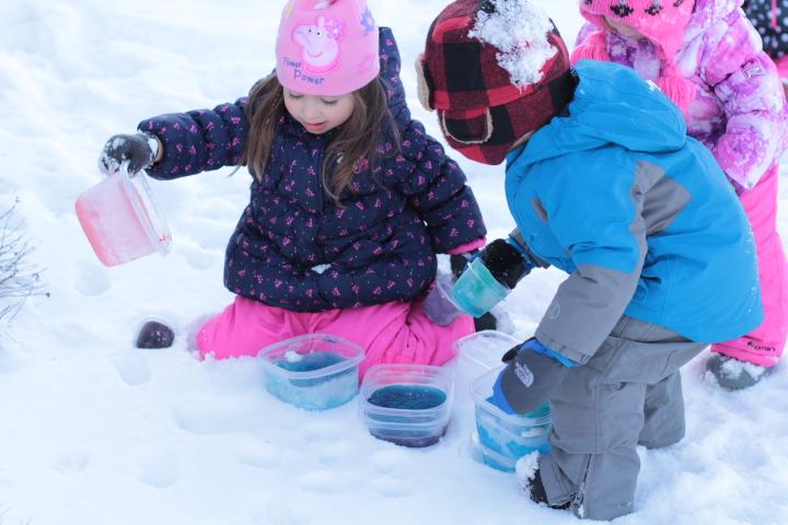 Blue Sky Daycare children experiment