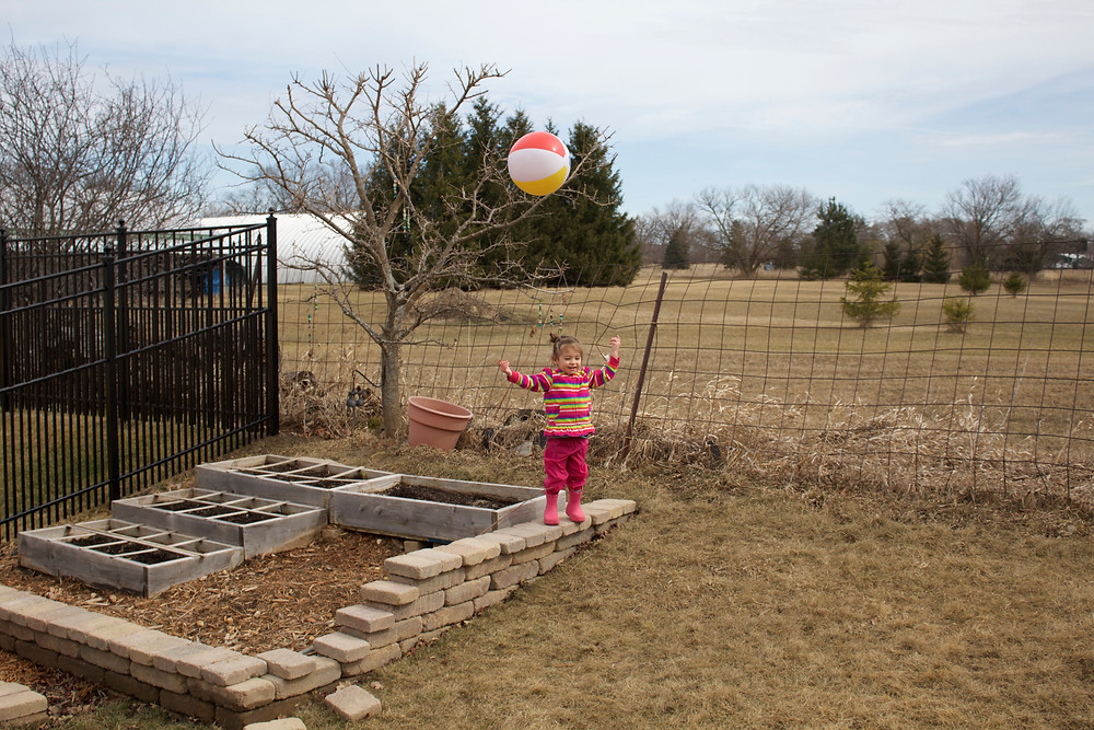 Active outdoor play with the Blue Sky Daycare home daycare children