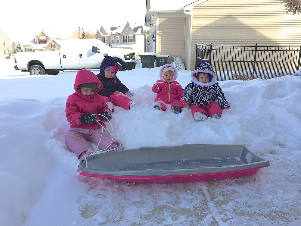 Blue Sky Daycare home daycare children all ready for outdoor play!