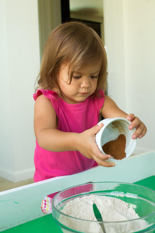 Blue Sky Daycare home daycare children making birthday cake