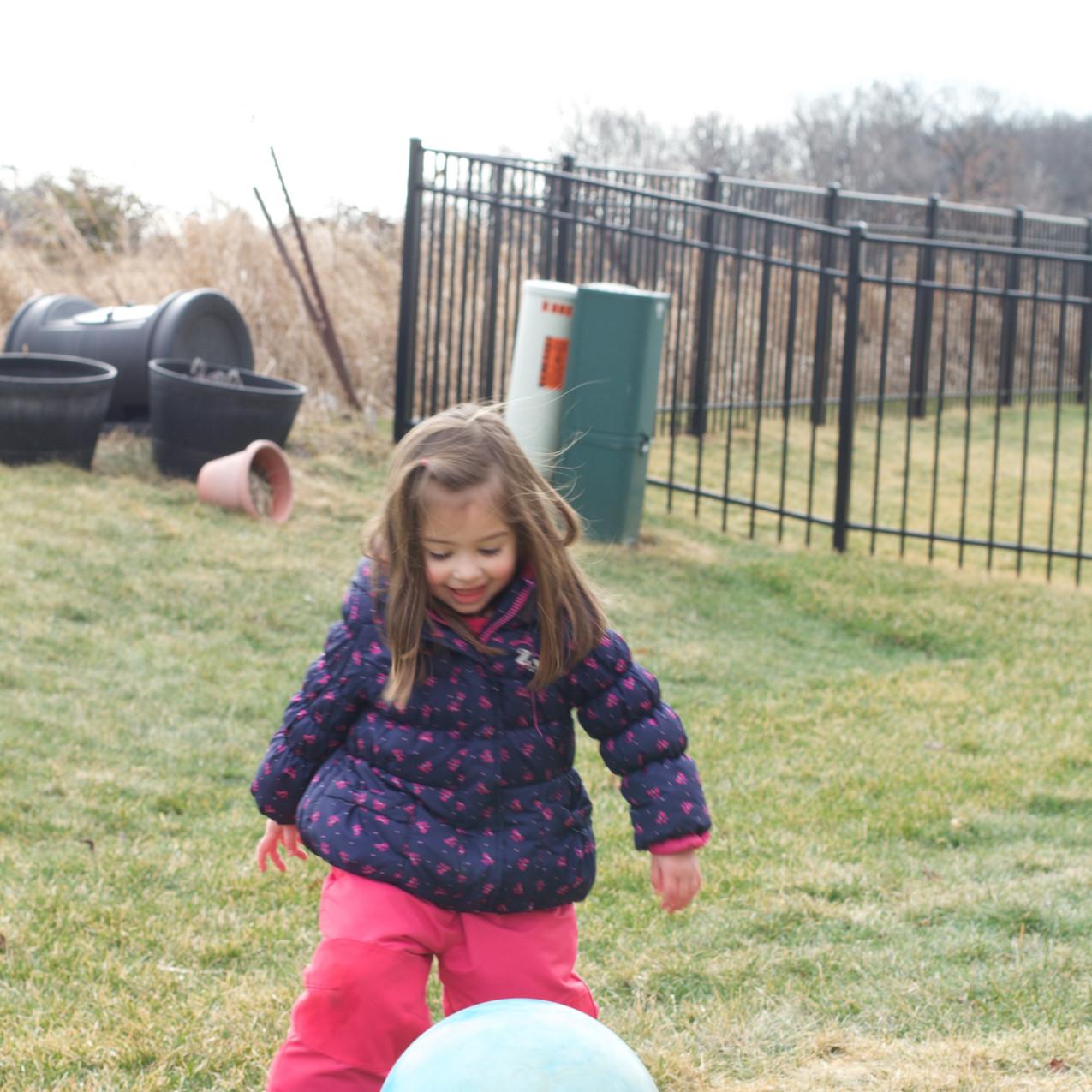 Blue Sky Daycare kids play outside