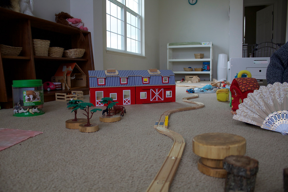 An imaginary world set up at Blue Sky Daycare home daycare