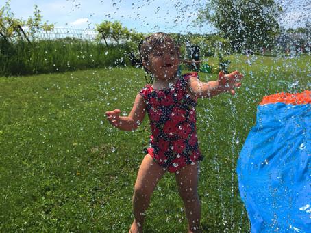 Water Play, Garden Help, and Little Critter...