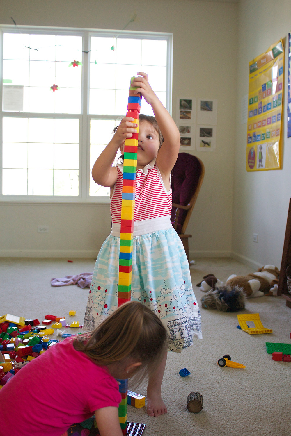 Lego fun at Blue Sky Daycare home dayare
