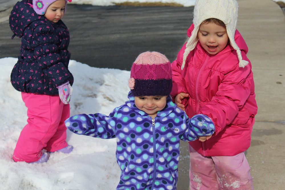 Blue Sky Daycare home daycare children on a neighborhood walk