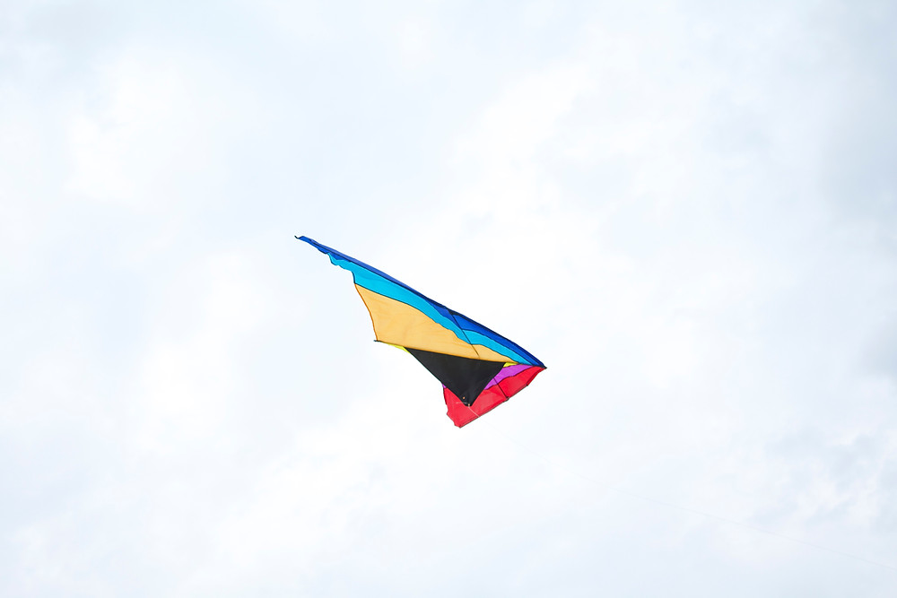 Kite flying at Blue Sky Daycare
