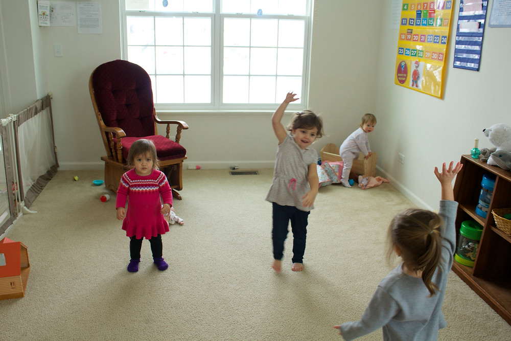 Music time at Blue Sky Daycare home daycare