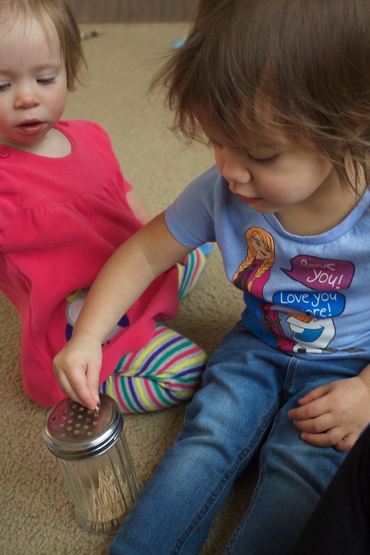 Practicing fine motor skills at Blue Sky Daycare home daycare