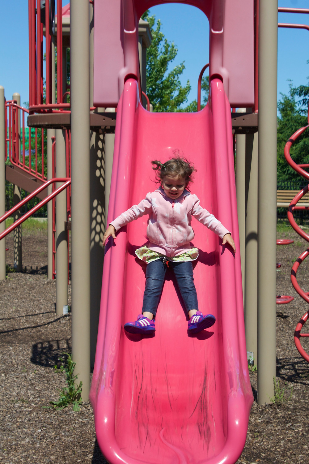 Fun at the park with the Blue Sky Daycare home daycard children