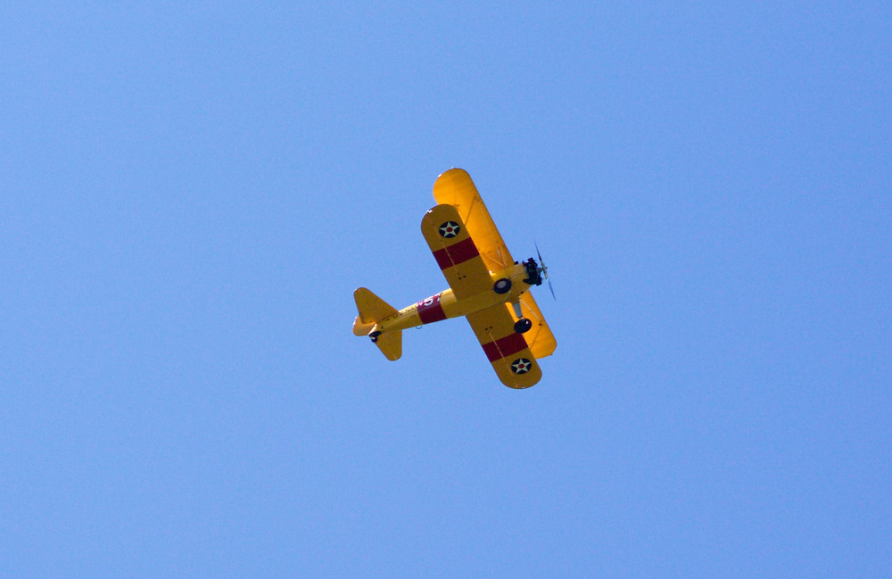 A biplane spotted by Blue Sky Daycare home daycare children