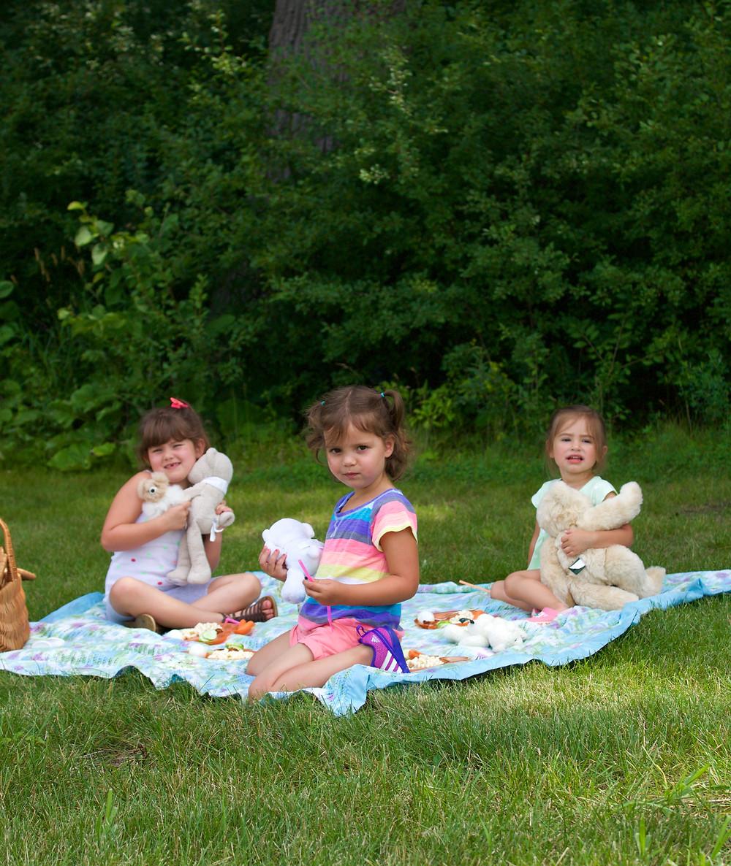 Blue Sky Daycare home daycare children enjoying Teddy Bear Picnic Day