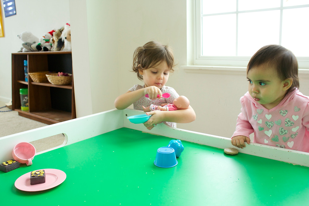 Pretend play at Blue Sky Daycare home daycare
