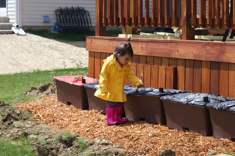 Blue Sky Daycare home daycare child learning about gardens