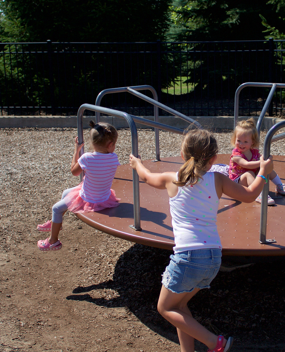 Blue Sky Daycare home daycare children enjoying outdoor time at the park